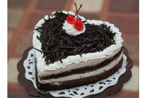 Black forest - Heart cake